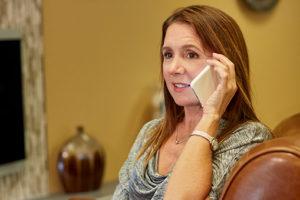 women calling 24 hour support