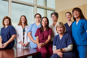 A team of nurses and doctors