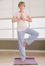 woman doing yoga integrative therapy