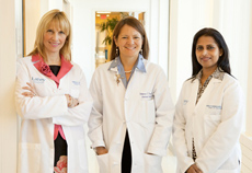 lahey three breast health center female doctors in white coats