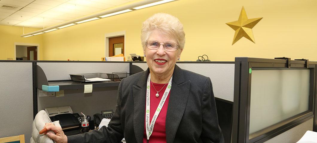 Charlotte Rickert, a longtime Lahey volunteer