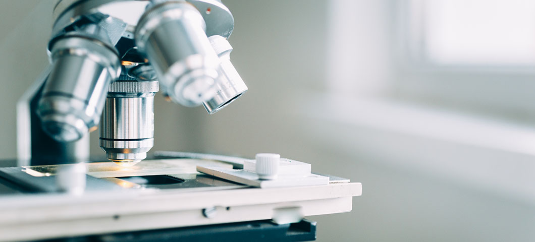 Microscope in the Laboratory, modern close-up shot